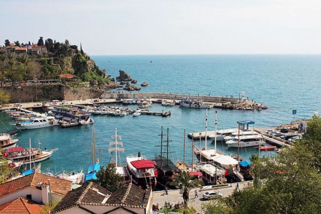View on Antalya marina in Turkey