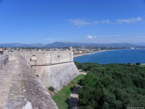 View on castle in ANTIBES