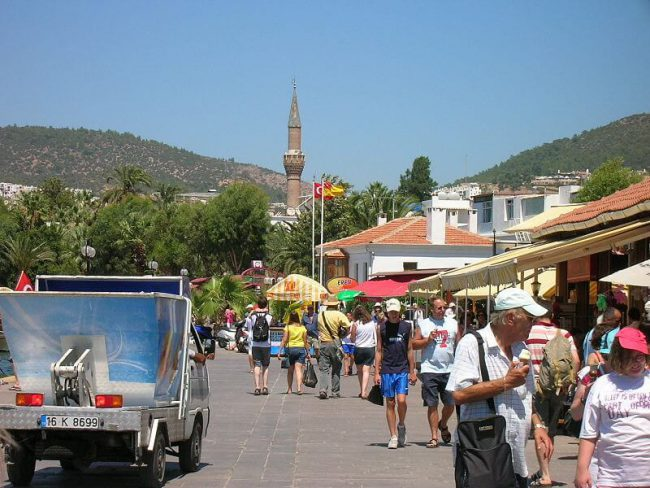 People strolling in the stret of BODRUM