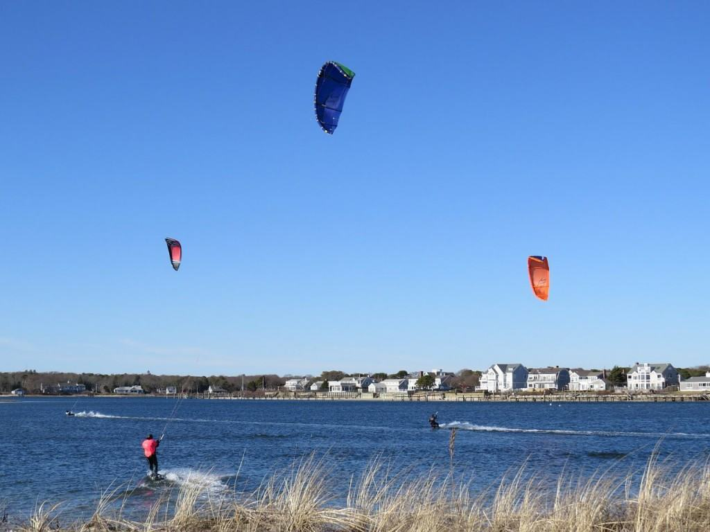 People doing water sport in Cape Cod