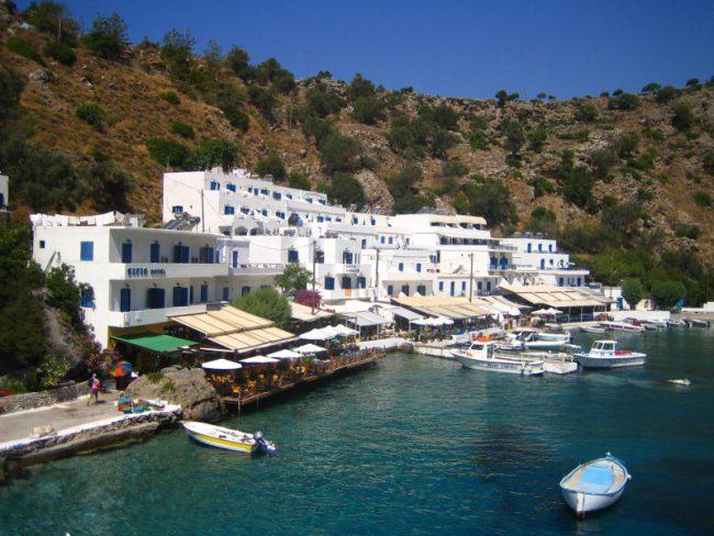 View on Crete marina
