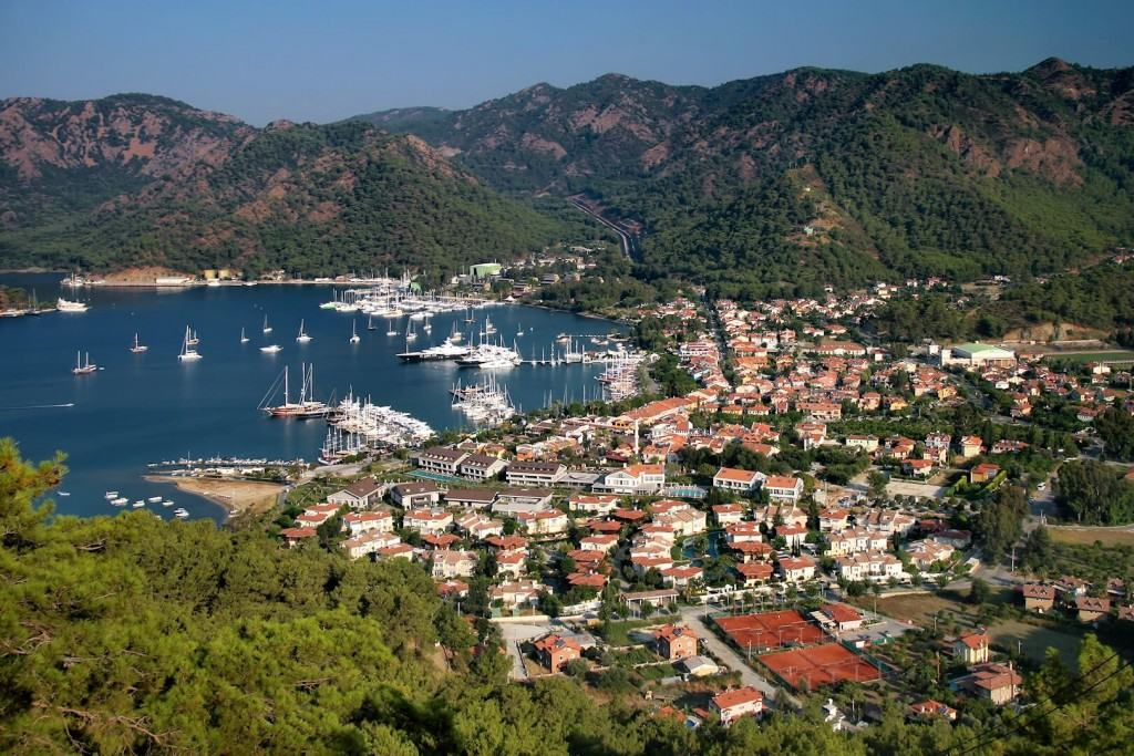 View on a marina in Gocek