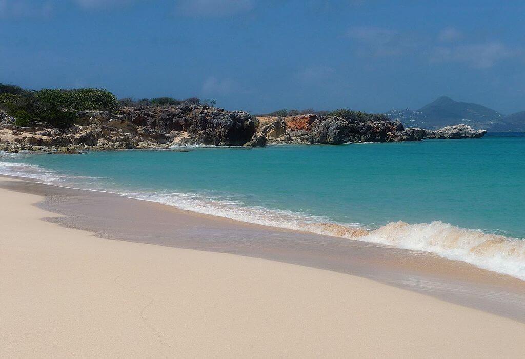 Leeward island beach