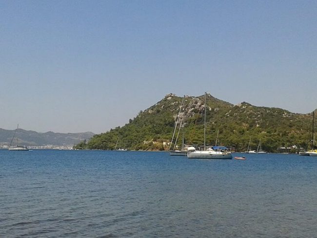 View on Marmaris sea