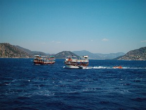 Boats on the water in MARMARIS GULF