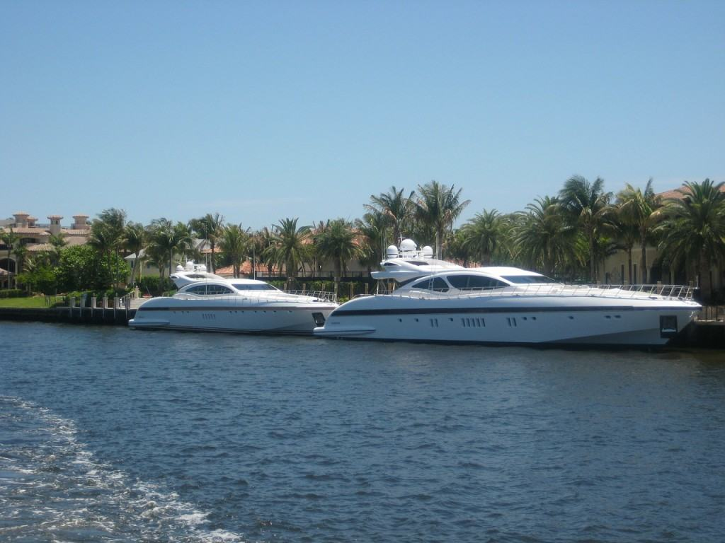 Boats on the water in Miami
