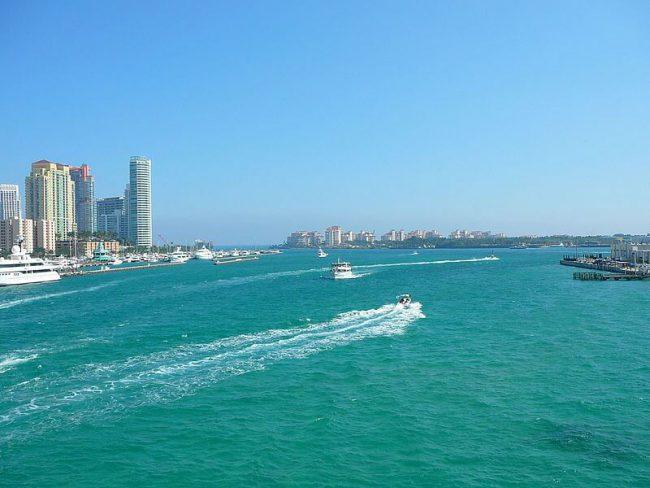View on Miami sea