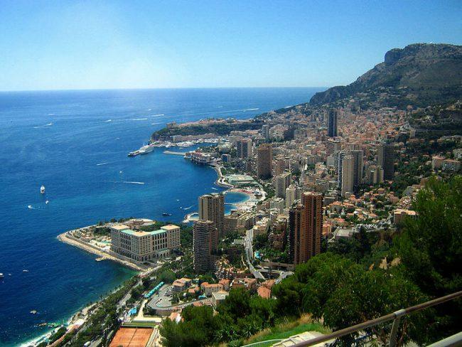 View on Monaco sea