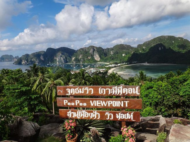 View from PHI PHI ISLANDS