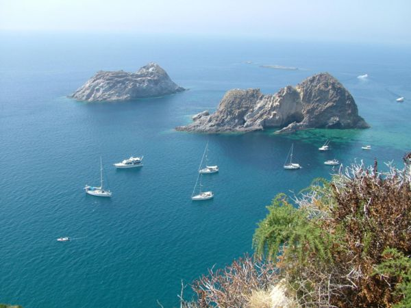View on Palmarola coast