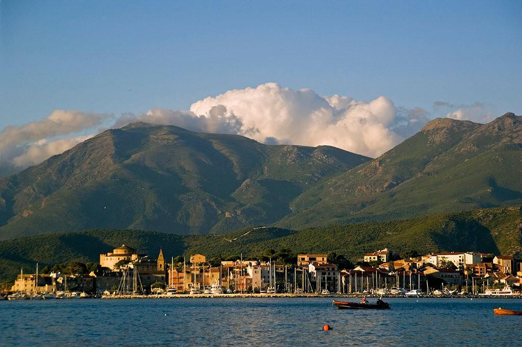 View on St Florent port