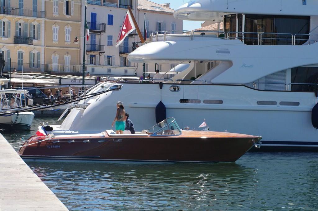 Boat in St Tropez marina