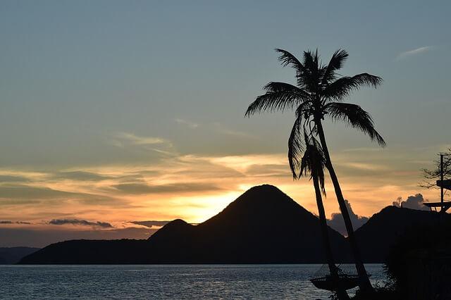 Sun set in Tortola