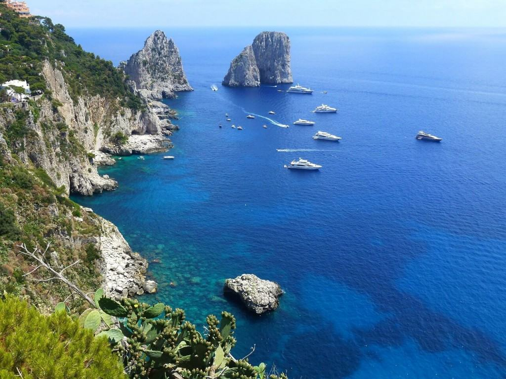 View on Capri coast