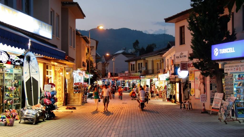 Street in the Gulf of Gocek