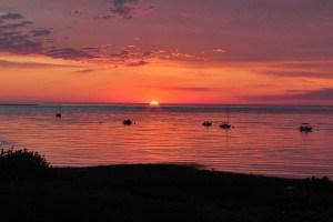 Sun set in Chatham Bay