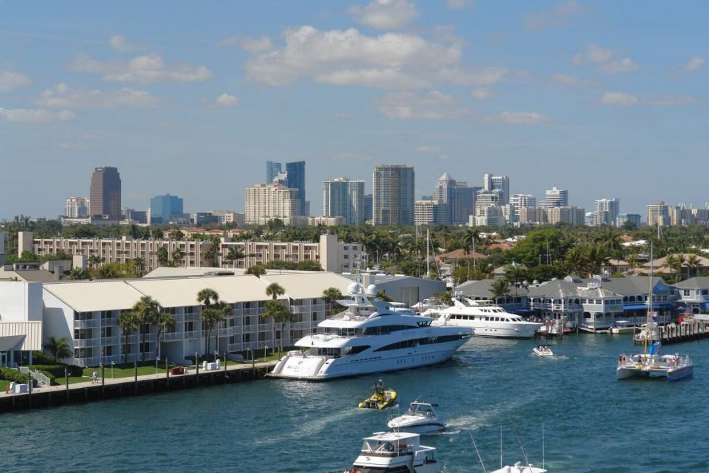 Boats in Fort Lauderdale port