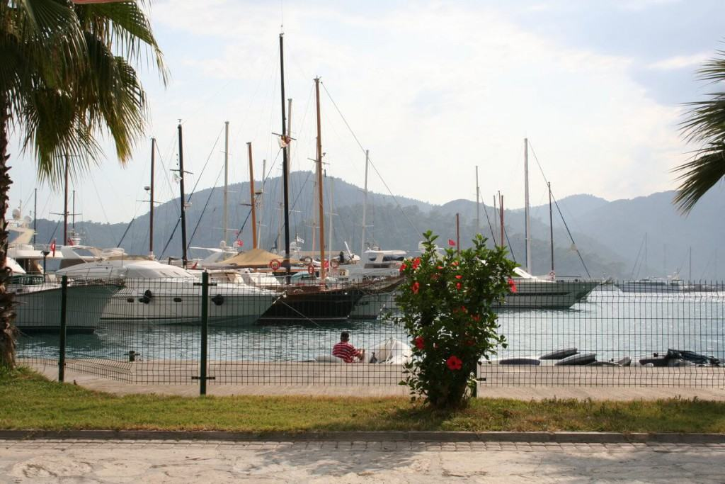 Boats in the port of Gocek