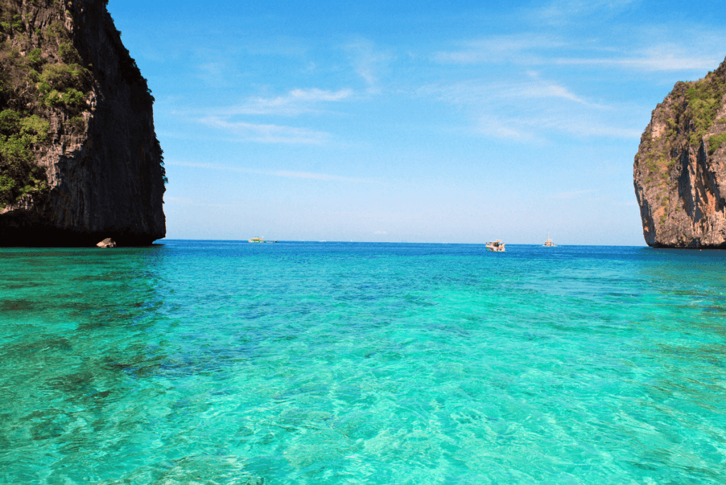 Blue water in Andaman Sea