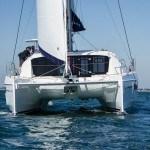 Catamaran on the water