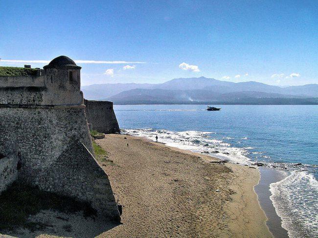 View on AJACCIO coastline