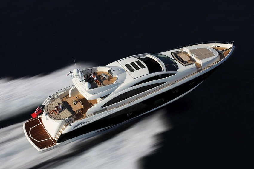 Sunseeker on the water