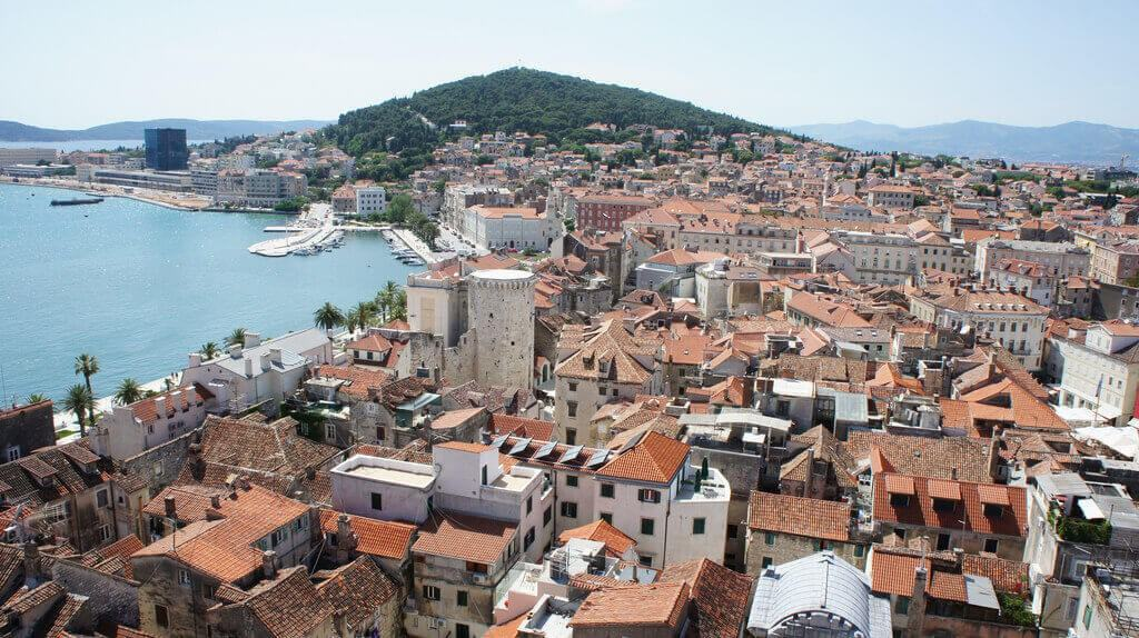 View on Split town