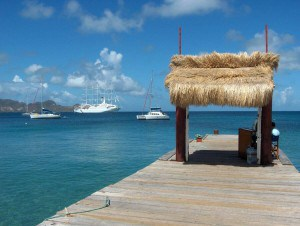 Boats on the water in Mayreau