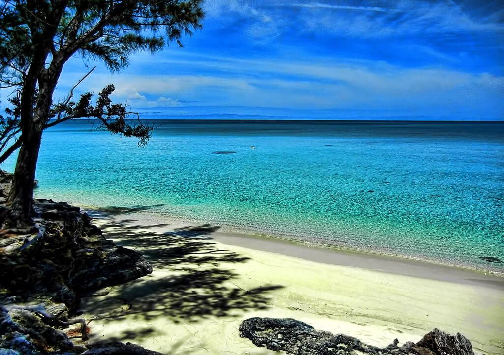 Beach on Eleuthera island