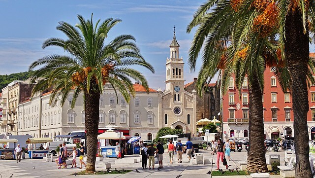 Split town in Croatia