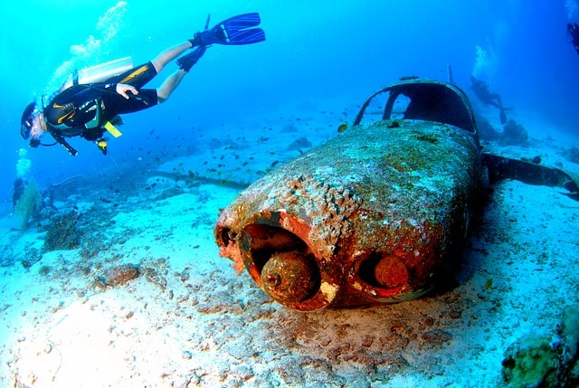 Wreck of the Rhone in the BVI