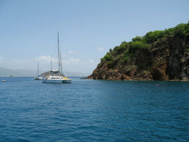 Catamaran in Norman Island