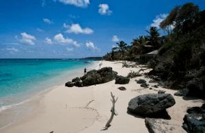 Beach on Mustique Island