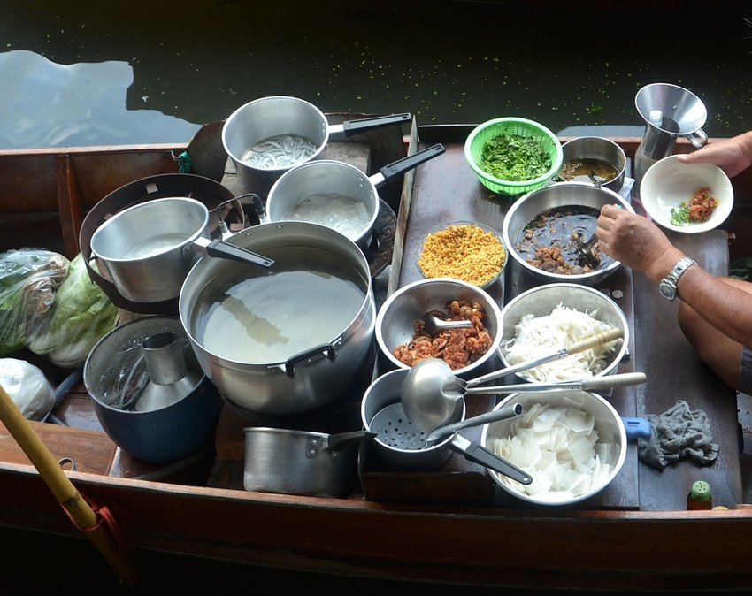 Cook on a boat