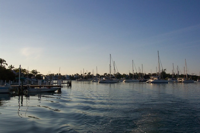 Marina in the Abaco Island