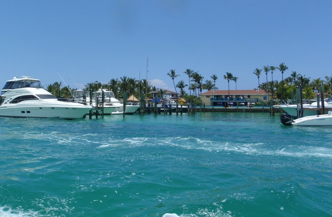 Boats in Bimini Island