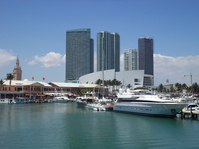 Boats in Miami port