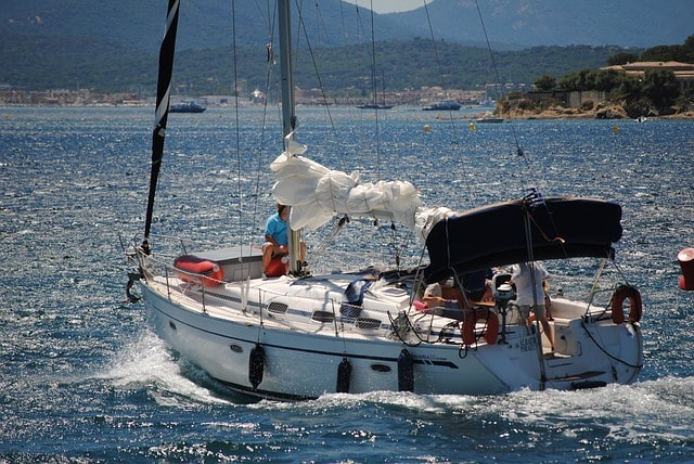 Group of people on a sailing trip