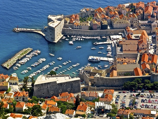 View on Dubrovnik port
