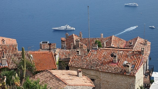 View on St Tropez sea