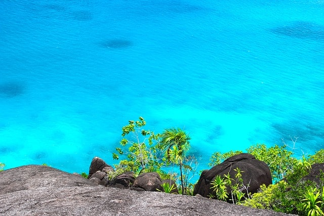 View on Seychelles sea