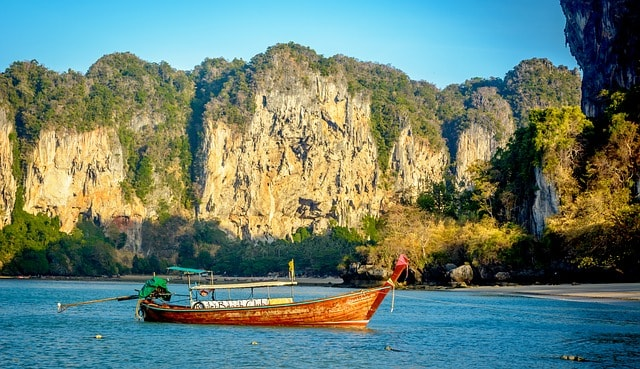 Boat on the water in Thailand