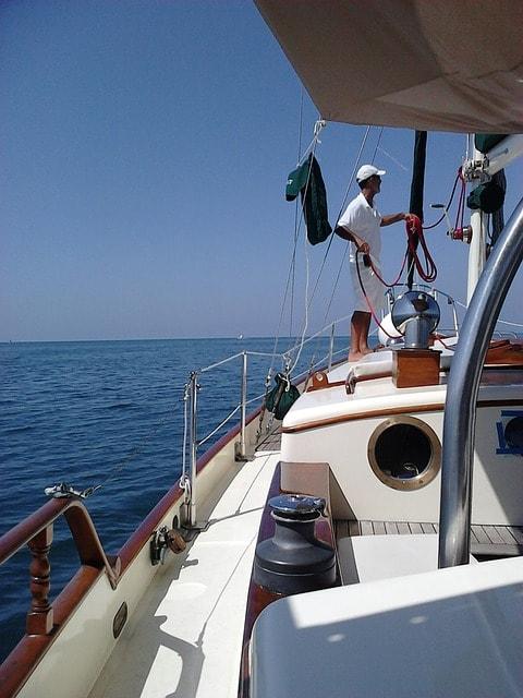 Skipper on a boat