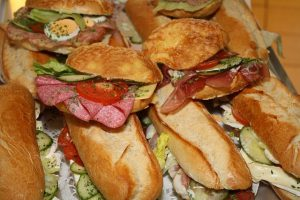 Sandwiches with charcuterie in Florence