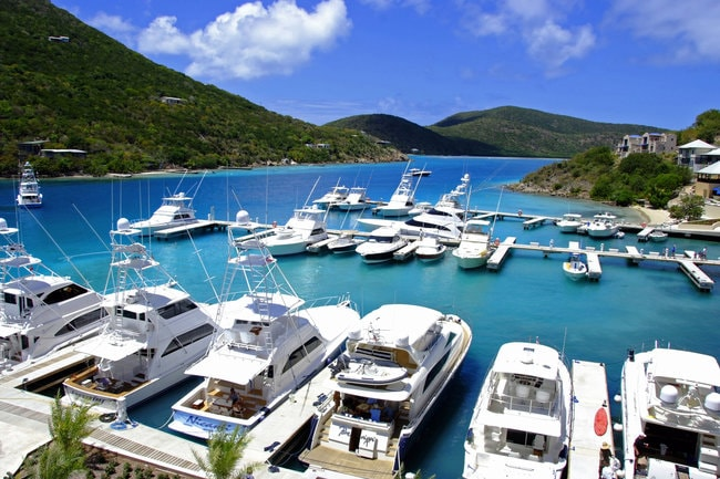 Marina in the BVI