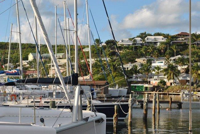 Marina in the Caribbean