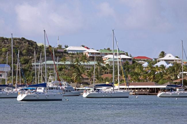 Isle de sol marina in the Caribbean