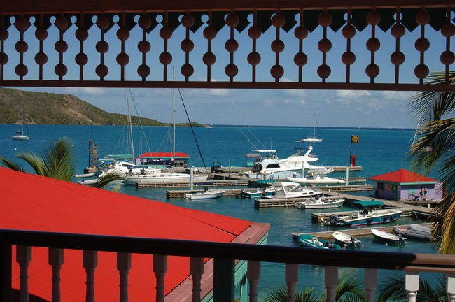 Leverick Bay marina in the Caribbean