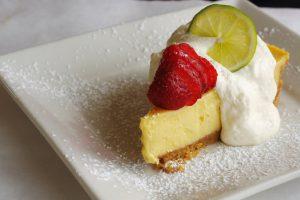 Lemon pie on a plate