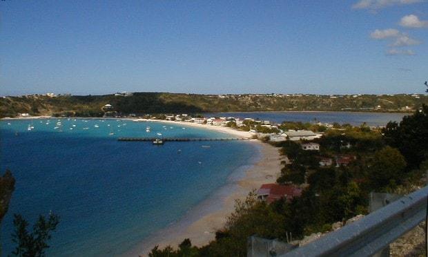View on Leeward island